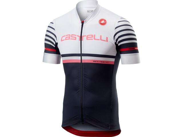 Castelli Free AR 4.1 Bike Jersey Shortsleeve Men white black at ... b50e9384e